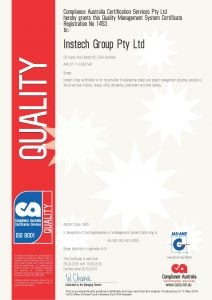 Instech Group Pty Ltd Certificate